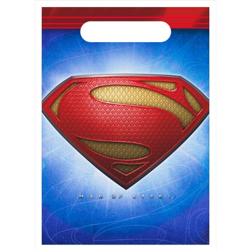 Superman Man of Steel Favor Bags (8ct)