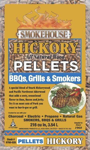 Smokehouse Products 9760-020-0000 5-Pound Bag All Natural Hickory Flavored Wood Pellets, Bulk (Pellet Wood Smoker compare prices)