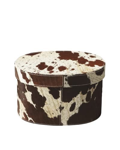 Butler Specialty Co. Hair-on-Hide Oval Storage Box, Medium