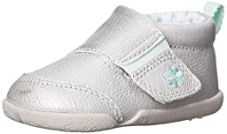 Carter\'s Every Step Christy Stage 2 Stand Walking Shoe (Infant/Toddler), Silver, 3 M US Infant