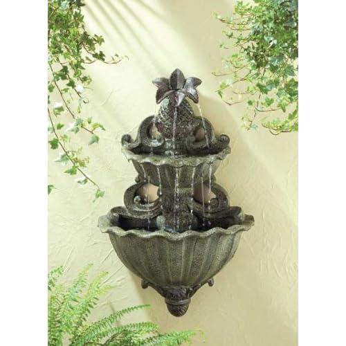 Outdoor garden decor wall fountains photograph pineapple h for Pineapple outdoor decor