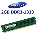 Samsung Original 2 GB 240 pin DDR3-1333 (1333Mhz, PC3-10600, CL9) 128Mx8x16 double side (2x M378B5673FH0-CH9) für DDR3 + i5 Mainboards - 100% kompatibel zu 10666Mhz, PC3-8500, CL7