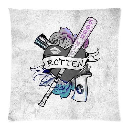 Trendsetter Harley Quinn Suicide Squad Tatuaggi Custom Pillowcase Throw Pillow Cover cuscino Custodia 18x 18(due lati)