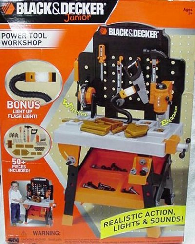 Toy Work Bench Black And Decker Junior Power Tool