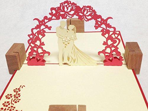 全100種以上 立体ポップアップ グリーティングカード:ラブ・ウェディング  L-020  ウエディングカード・ウェディング・結婚おめでとう・結婚祝い・感謝状・告白・招待状・出産祝い・メッセージカード☆6枚購入1枚サービス大感謝キャンペーン中☆