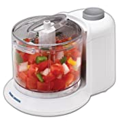 1-1/2-Cup One-Touch Electric Chopper, White