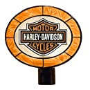 Harley Davidson Art Glass Night Light