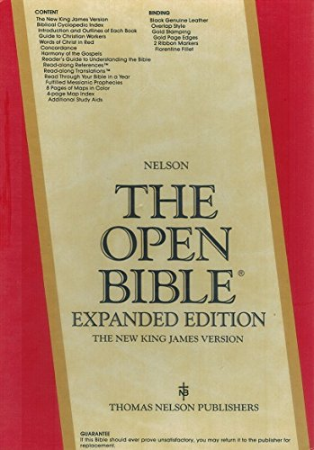 Holy Bible: Open Bible, New King James Version, Black Genuine LeatherFrom Thomas Nelson Inc