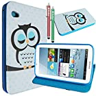 Samsung Galaxy Tab 2 7 Inch Case,MaxMall Owl Pattern Stand PU Leather Case Cover Slim Fit for Samsung Galaxy Tab 2 7 Inch P3100 / P3110