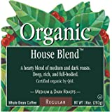 Green Mountain House Blend 4 lbs Blends Whole Bean Coffee Fair Trade Bulk Certified Organic