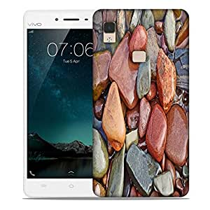 Snoogg Colorful Stone Designer Protective Phone Back Case Cover For Vivo V3 Max