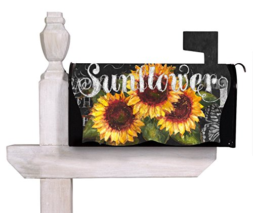 Evergreen imperial sunflower chateau mailbox cover home for Imperial home decor