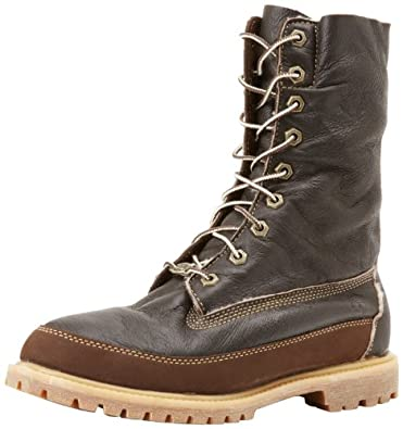 Timberland Women's Authentics Shearling Boot,Dark Brown,6.5 M US