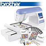 Brother PE770 (PE 770) Embroidery Machine w/ USB Flash Port and Grand Slam II Package Includes 65 Embroidery Threads with Snap Spools + Prewound Bobbins + Cap Hoop + Sock Hoop + Stabilizer + 15,000 Embroidery Designs + Scissors ($1,170 Value)