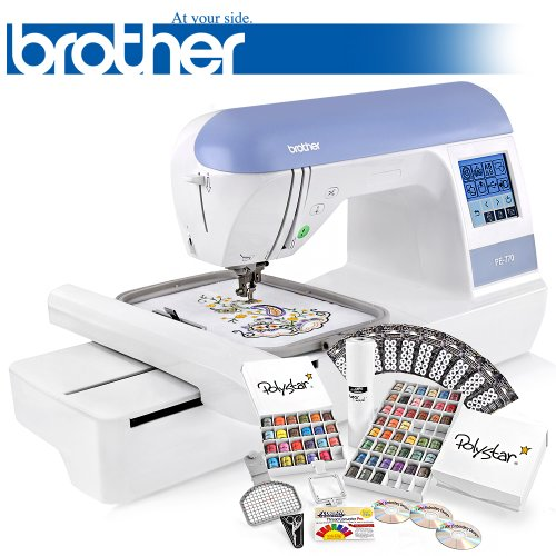 Learn More About Brother PE770 (PE 770) Embroidery Machine w/ USB Flash Port and Grand Slam II Packa...