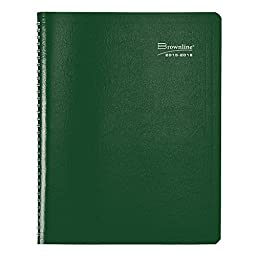 Brownline Monthly Academic Planner, July Aug, Twin-wire, Assorted Colors, Color May Vary, 11 x 8.5 inches (CA701.ASX-16)
