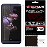 [Pack of 3] TECHGEAR® HTC Desire 610 ULTRA CLEAR LCD Screen Protector Guard Covers with Cleaning Cloth & Application Card