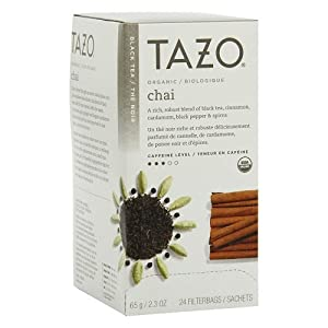 Tazo Tazo Chai Filter Bag Tea, 24-Count Packages (Pack of 6)