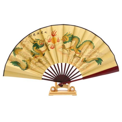 Exp Handmade Folding Decorative Wall Fan With Stand