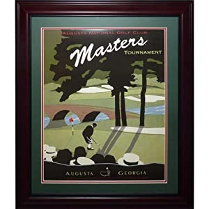 Masters Golf Tournament Deluxe Framed Course Poster by PalmBeachAutographs.com