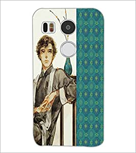 PrintDhaba Sitting Boy D-4751 Back Case Cover for LG NEXUS 5X (Multi-Coloured)