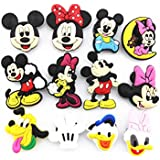 12 (Mickey Minnie Mouse Donald Duck)shoe Charms Fits Croc Shoes & Bracelet Wristband
