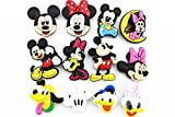 12pcs Disney (Mickey Minnie Mouse Donald Duck)shoe Charms Fits Jibbitz Croc Shoes #1