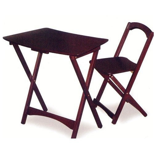 Buy Low Price Comfortable Work Computer Table and Folding Chair Set in Cappuccino Finish (B000WI52H6)