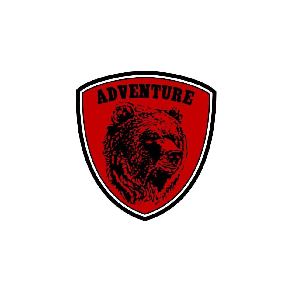 Bear Adventure Alaska Hunter Car Bumper Sticker Decal 4.5x4
