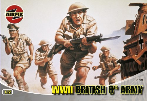 Airfix A01709 1:72 Scale British 8th Army Figures Classic Kit Series 1 - 1