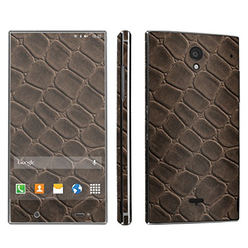 Sharp Aquos Crystal Phone Skin - [SkinGuardz] Full Body Scratch Proof Vinyl Decal Sticker with [WallPaper] - [Brown Leather] for Sharp Aquos Crystal (Sharp Aquos Leather compare prices)