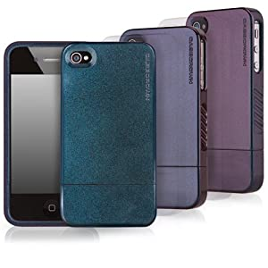 CaseCrown Chameleon Glider Case for Apple iPhone 4 and 4S ( AT&T, Sprint, & Verizon compatible) Screen Protector included - Blue/Purple