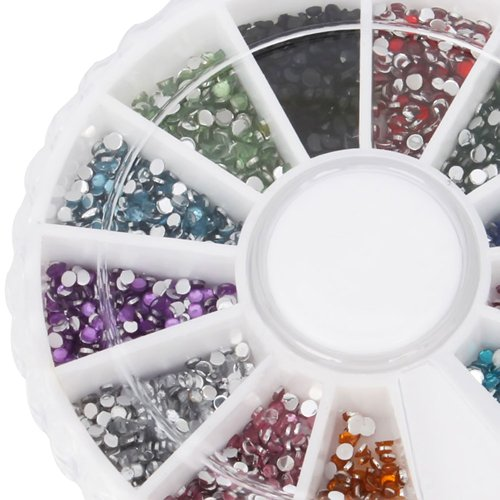 1800pcs 12 Color 1.5mm Nail Art ...