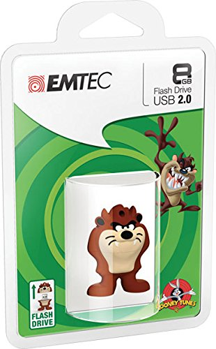 emtec-looney-tunes-taz-l103-memoria-8-gb-usb-20-bianco