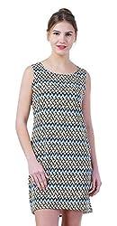 merch21 Women's Dress (MERCH-409-MULTICOLOR, Multi-Coloured, Medium)