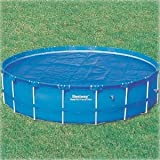 Happy Hot Tubs 12ft Intex Steel Pro Frame Swimming Pool 200 Microns Solar Cover
