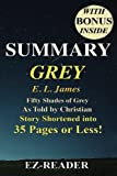 img - for Summary - Grey:: Fifty Shades of Grey as Told by Christian -- Novel by E. L. James -- Story Shortened into 40 Pages or Less! (Grey: Fifty Shades of ... ... Paperback, Hardcover, Audiobook, Audible) book / textbook / text book