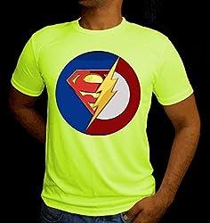 LetsFlaunt Super Bazinga T-shirt Men Green Dry-Fit-X-Small Nw