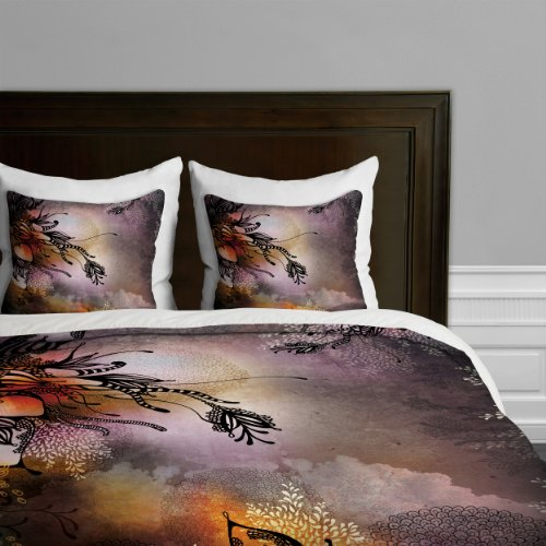 Big Save! DENY Designs Iveta Abolina Purple Rain Duvet Cover, King