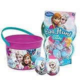 Frozen Easter Egg Hunt Bundle - 16 Plastic Filled Eggs and Bucket Set