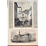 Impresión Antigua de las Jesuitas Belleville Ontario Canadá de Marsella de la Universidad