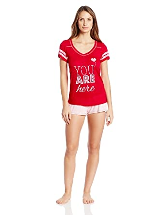 Honeydew Intimates Women's Tees Me Tee and Boxer Set, You are Here, Small