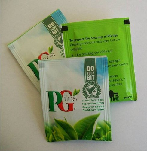 Pg Tips - 200 Individual Enveloped Tagged Tea Bags 400G