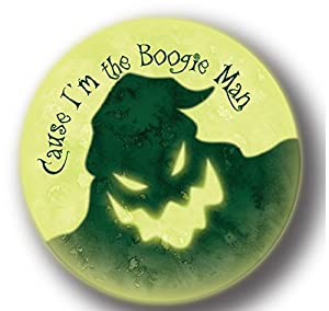 """Cause I'm The Boogie Man Nightmare Before Christmas - Officially Licensed Products Assorted Artworks - 3"""" Button"""