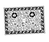 Floral Block Print 100% Cotton Designer Place Mat 4 Pcs Set 13 X 19 Inches