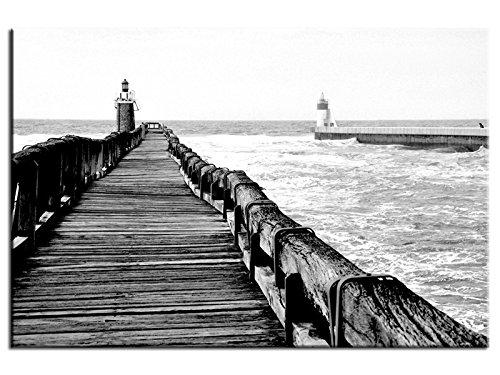Tableau noir et blanc Perspective sur l'estacade - TOP VENTE