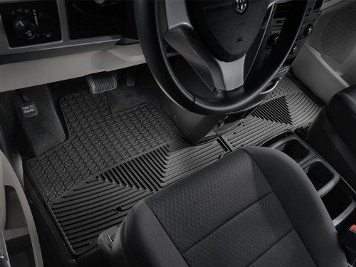 2008-2012 Dodge Grand Caravan Black WeatherTech Floor Mat (Full Set) (Weathertech Dodge Grand Caravan compare prices)