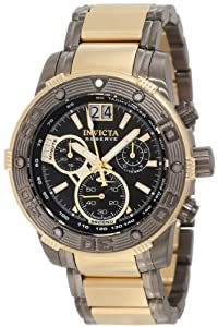 Invicta Men's 10592 Ocean Reef Reserve Chronograph Black Dial Two Tone Stainless Steel Watch