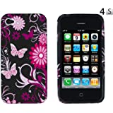 Black Butterfly Flexible TPU Gel Case for Apple iPhone 4, 4S (AT&T, Verizon, Sprint)