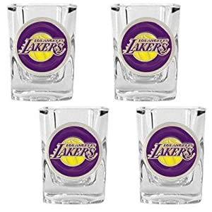 NBA Four Piece Square Shot Glass Set by Great American Products